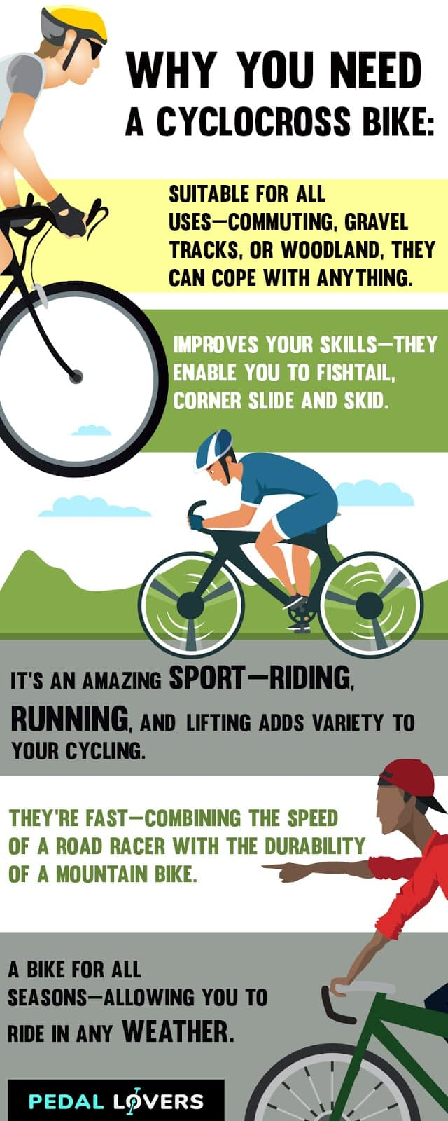 best cyclocross bikes infographic