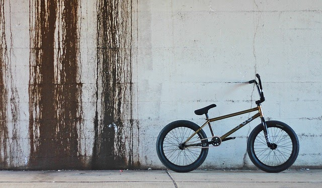bmx bike next to wall