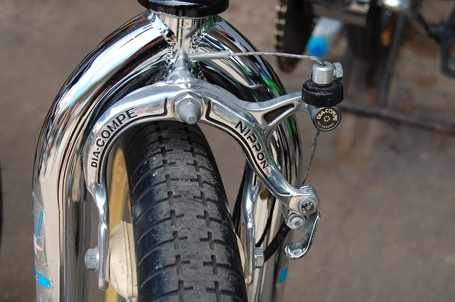 up close bike brake