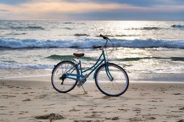 bike by the sea
