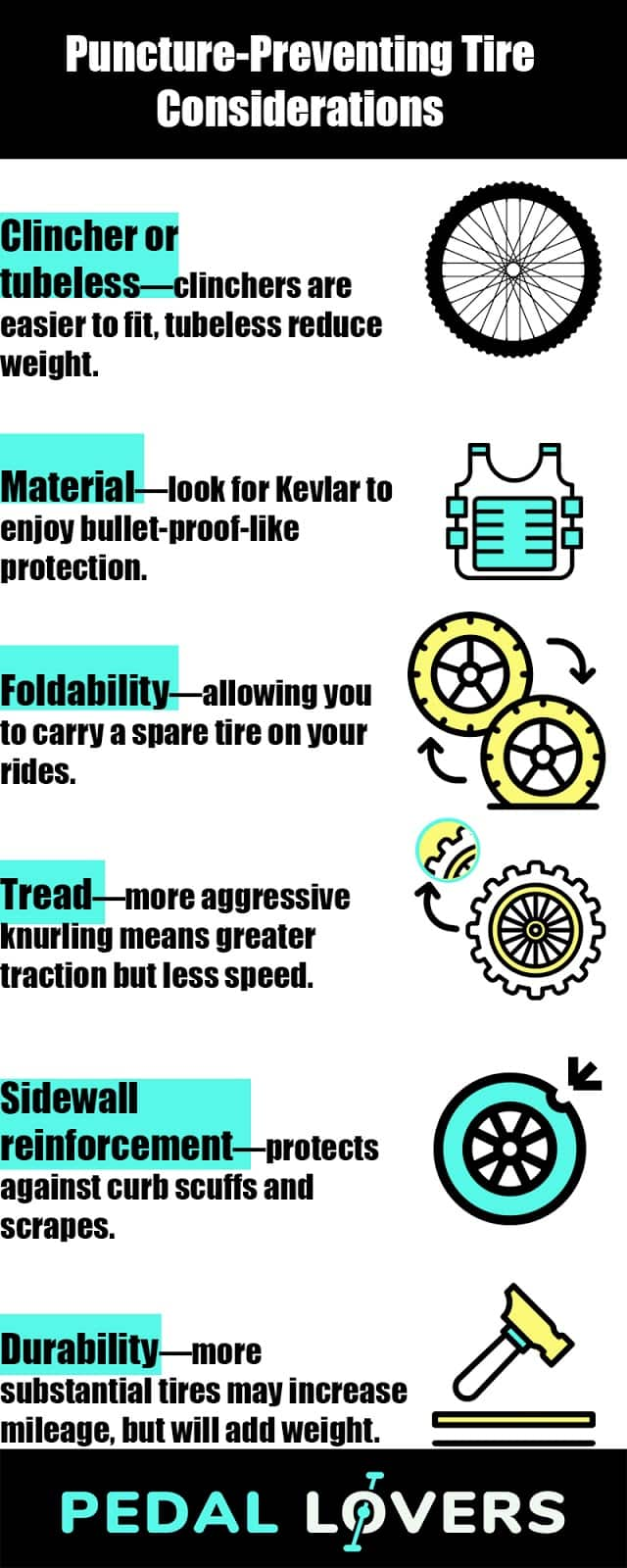 best tires for puncture resistance infographic